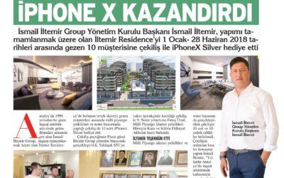 Antalya Körfez Gazetesi: İsmail İltemir IphoneX Kazandırdı.